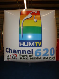 custom graphics large cube shaped balloons for sale in Muskegon, MI